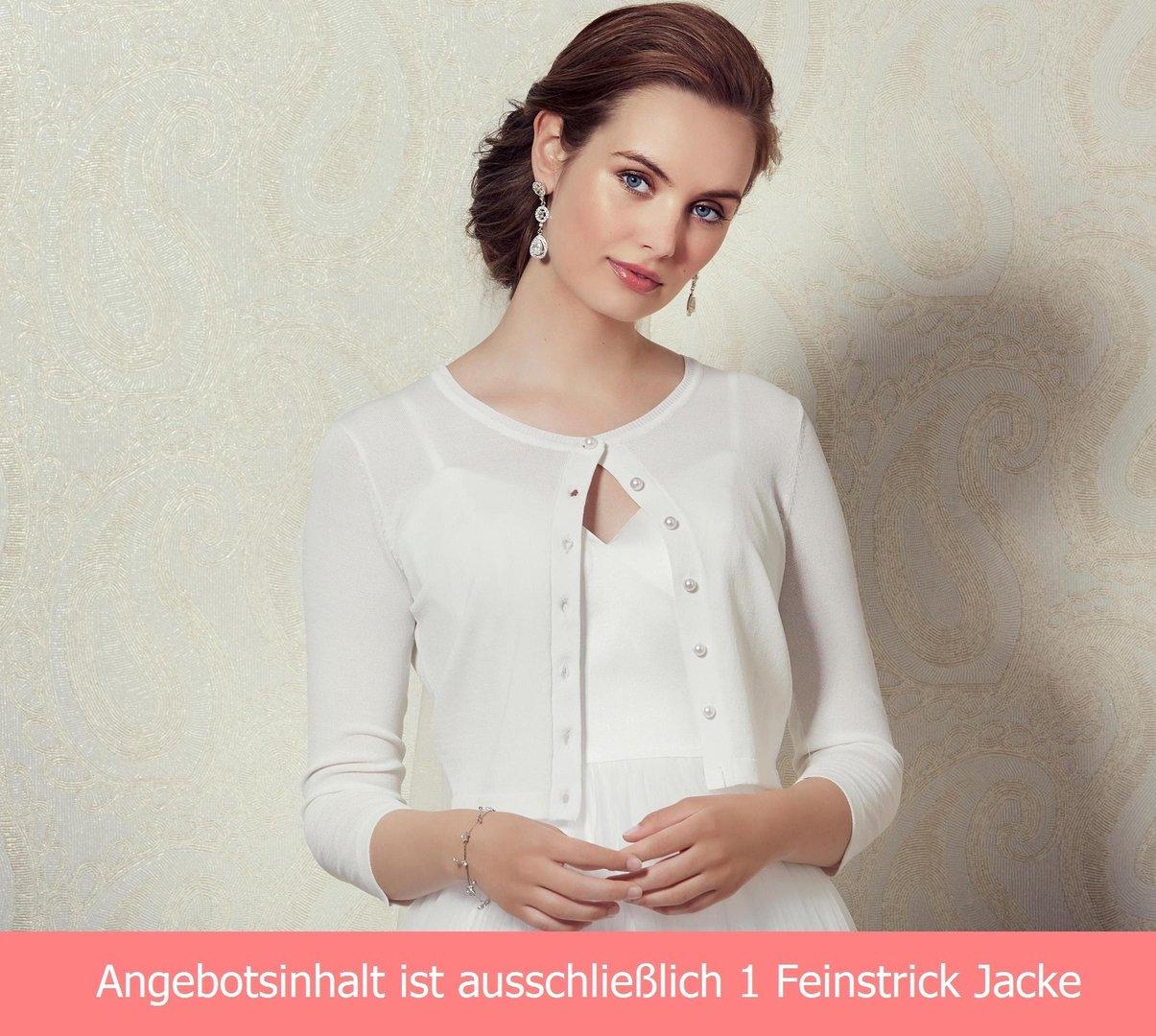 Perlen Brautbolero Jacke Knöpfe Braut Feinstrick EYeH29WDI