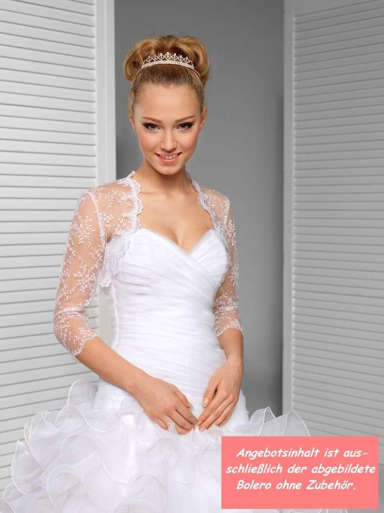Spitzenbolero Bolero aus Spitze und Tüll zum Brautkleid kaufen!