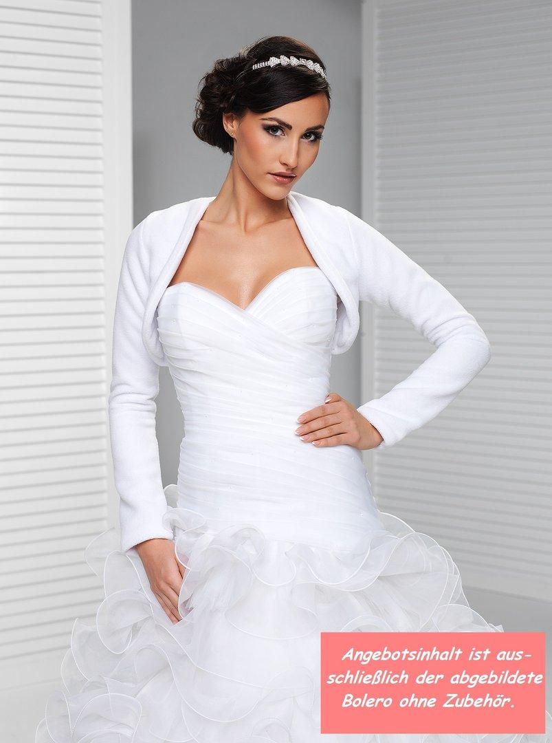 warmer Fleece Bolero Langarm Brautbolero zum Brautkleid kaufen!