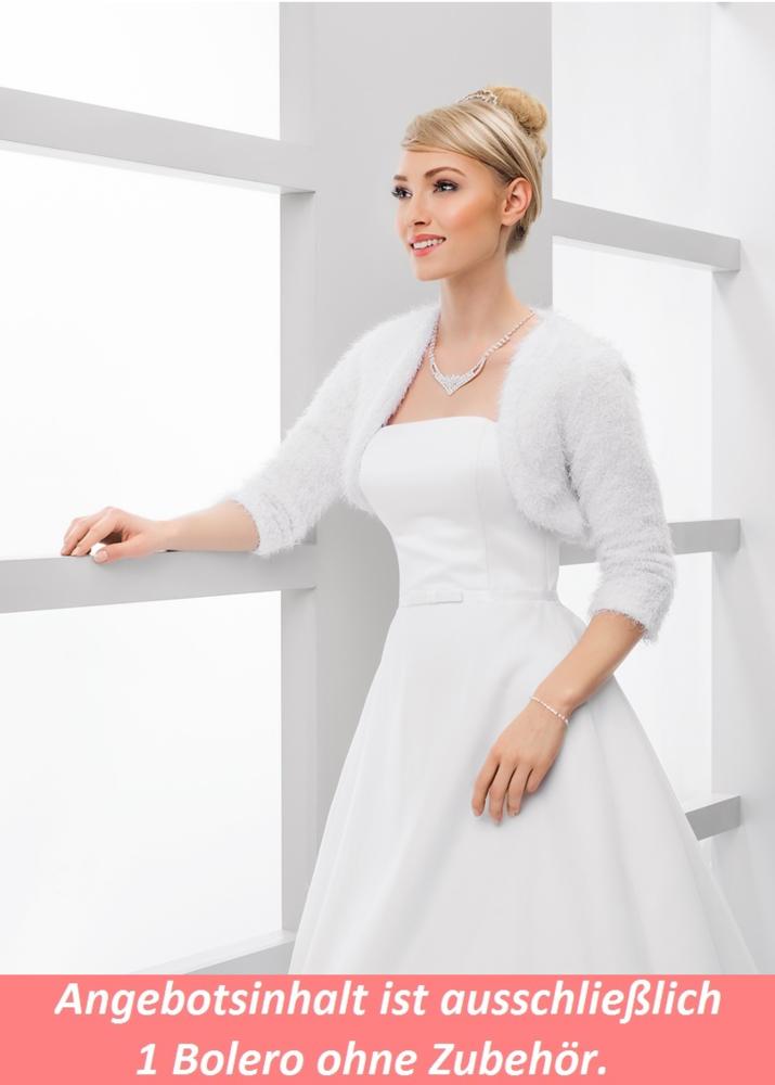 warmer Braut Webpelz Bolero zum Brautkleid online kaufen!