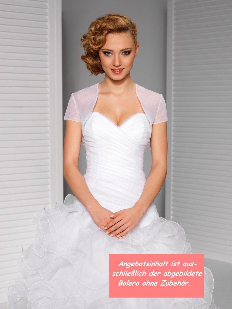 Braut Organza Bolero Kurzarm für Bräute online kaufen auch in XXL