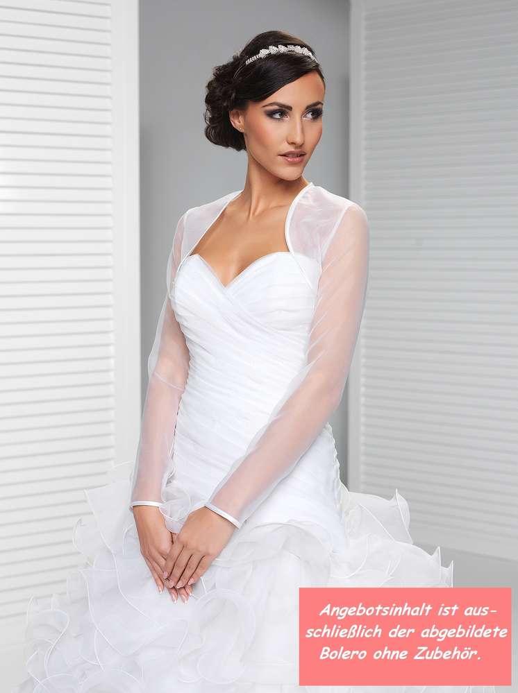Braut Organza Bolero Brautbolero Langarm zum Brautkleid kaufen!